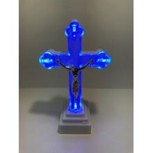 Led svietidlo Kríž modrý