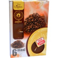 Sviečka čajová 6 kusová MAXI COFFEE
